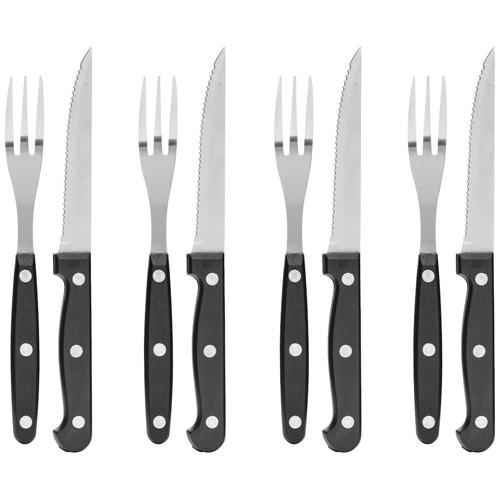 Grillbestick gafflar och knivar